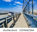 bridge and overpass with cars.... | Shutterstock . vector #1254662266