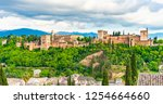 landscape with alhambra palace  ... | Shutterstock . vector #1254664660