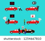 show event of the red car show ... | Shutterstock .eps vector #1254667810