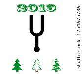 tuning fork icon stock vector... | Shutterstock .eps vector #1254675736