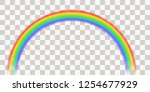abstract colorful rainbow... | Shutterstock .eps vector #1254677929