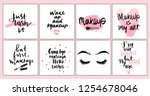 vector fashion posters with... | Shutterstock .eps vector #1254678046