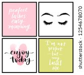 vector fashion posters with... | Shutterstock .eps vector #1254678070