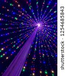 colorful christmas lights...   Shutterstock . vector #1254685843