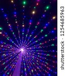colorful christmas lights...   Shutterstock . vector #1254685963