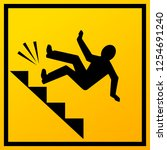 man falling down the stairs... | Shutterstock .eps vector #1254691240