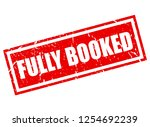 fully booked vector stamp... | Shutterstock .eps vector #1254692239