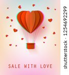 sale with love poster with... | Shutterstock . vector #1254692299