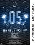 5th years anniversary... | Shutterstock .eps vector #1254693550