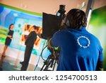 video operator removes as... | Shutterstock . vector #1254700513