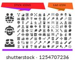 vector icons pack of 120 filled ... | Shutterstock .eps vector #1254707236