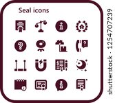vector icons pack of 16 filled... | Shutterstock .eps vector #1254707239