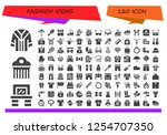 vector icons pack of 120 filled ... | Shutterstock .eps vector #1254707350
