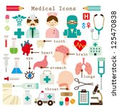 medical icons set | Shutterstock .eps vector #125470838