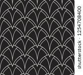 vector art deco pattern.... | Shutterstock .eps vector #1254708400