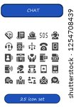 vector icons pack of 25 filled... | Shutterstock .eps vector #1254708439