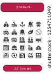 vector icons pack of 25 filled... | Shutterstock .eps vector #1254711049