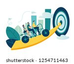 vector illustration of people... | Shutterstock .eps vector #1254711463