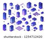 set 3d ultraviolet architecture ... | Shutterstock .eps vector #1254712420