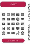 vector icons pack of 25 filled... | Shutterstock .eps vector #1254713926