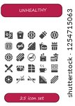 vector icons pack of 25 filled... | Shutterstock .eps vector #1254715063