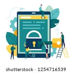 vector colorful illustration ... | Shutterstock .eps vector #1254716539