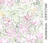 seamless sucullent pattern....   Shutterstock .eps vector #1254717160
