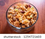 holiday stuffing with beef... | Shutterstock . vector #1254721603