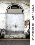 A Weathered Old Timber Door On...