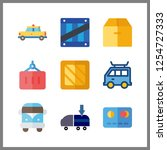 9 commercial icon. vector... | Shutterstock .eps vector #1254727333
