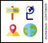 4 continent icon. vector...   Shutterstock .eps vector #1254728059