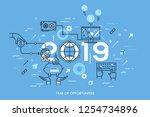 infographic concept  2019  ... | Shutterstock .eps vector #1254734896