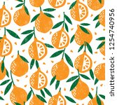 seamless pattern with fruits....   Shutterstock .eps vector #1254740956