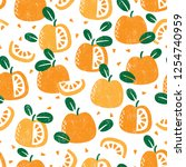seamless pattern with fruits....   Shutterstock .eps vector #1254740959