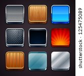 high detailed apps icons set.... | Shutterstock .eps vector #125475089