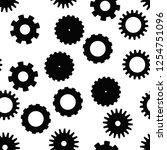 cog wheel seamless pattern.... | Shutterstock .eps vector #1254751096