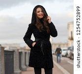 portrait of young beautiful... | Shutterstock . vector #1254752899