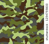 fashionable camouflage pattern. ... | Shutterstock .eps vector #1254755833