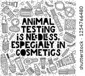 animal testing is needless ... | Shutterstock .eps vector #1254766480