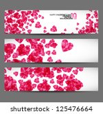 eps10  banner with hearts... | Shutterstock .eps vector #125476664