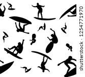 surfer icon seamless pattern... | Shutterstock .eps vector #1254771970