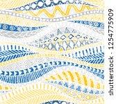 seamless wavy pattern. blue ... | Shutterstock .eps vector #1254775909