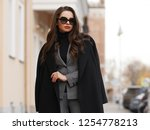 fall fashion look. stylish... | Shutterstock . vector #1254778213