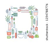 natural cosmetics frame. making ...   Shutterstock .eps vector #1254788776