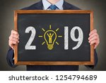 new year 2019 human resource... | Shutterstock . vector #1254794689