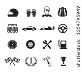 car racing icons  | Shutterstock .eps vector #1254795949