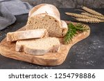 fresh fragrant bread on the... | Shutterstock . vector #1254798886