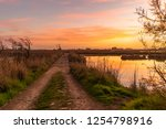 view of sunset on ria de aveiro ... | Shutterstock . vector #1254798916