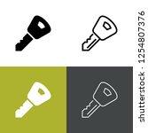 car key icon set | Shutterstock .eps vector #1254807376
