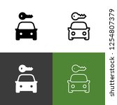 car rental icon set | Shutterstock .eps vector #1254807379